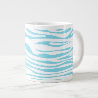Blue Zebra stripe pattern Jumbo Mug