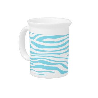 Blue Zebra stripe pattern Pitcher