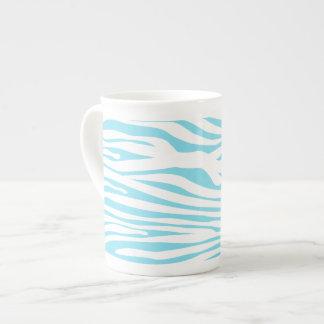 Blue Zebra stripe pattern Bone China Mug