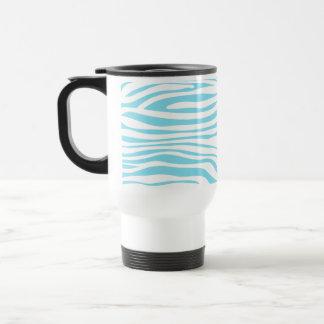 Blue Zebra stripe pattern Stainless Steel Travel Mug
