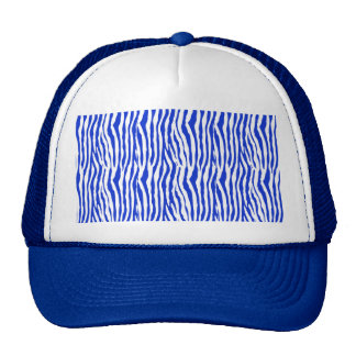 Blue Zebra Stripes Cap