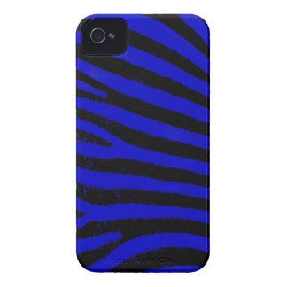 blue  zebra stripes iPhone 4 Case-Mate ID™ iPhone 4 Case-Mate Cases