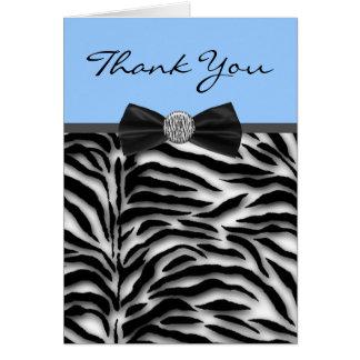 Blue Zebra Thank You Cards