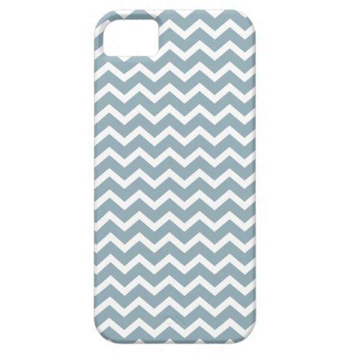 Blue Zig Zag Chevrons Pattern iPhone 5 Cases
