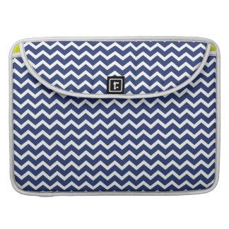 Blue Zig Zag Chevrons Pattern Sleeve For MacBook Pro