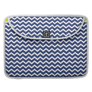 Blue Zig Zag Chevrons Pattern Sleeves For MacBook Pro