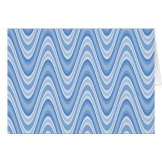 Blue Zig Zag Greeting Card