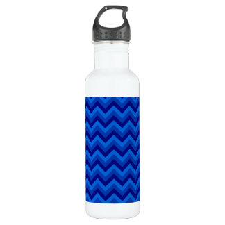 Blue Zig Zag Pattern. 710 Ml Water Bottle