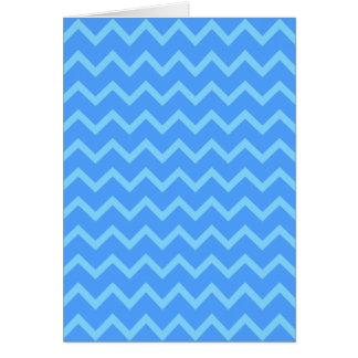 Blue Zig Zag Pattern Card