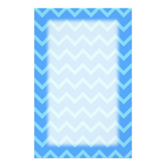 Blue Zig Zag Pattern. Customized Stationery