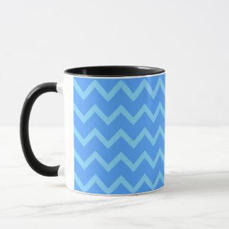 Blue Zig Zag Pattern. Mug