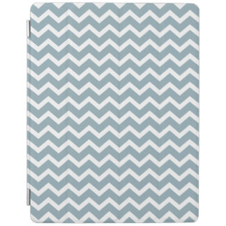 Blue Zig Zags Chevrons Pattern iPad Cover