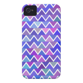 Blue Zigzag Pattern iPhone 4 Covers
