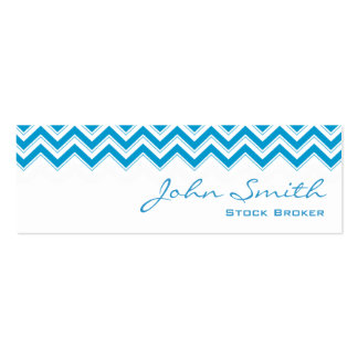 Blue Zigzag Stock Broker Business Card