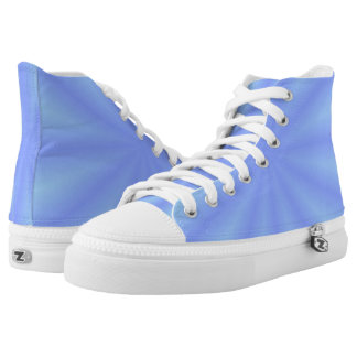 Blue Zipz High Top Shoes Printed Shoes