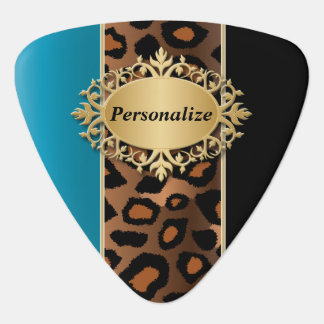 Blue Zircon and Black Jaguar | Personalize Plectrum