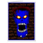 Blue ZOMBIE Halloween cards