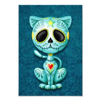 Blue Zombie Sugar Kitten 9 Cm X 13 Cm Invitation Card