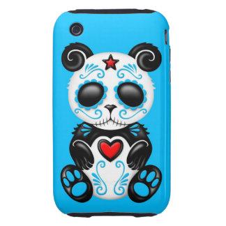 Blue Zombie Sugar Panda Tough iPhone 3 Cover