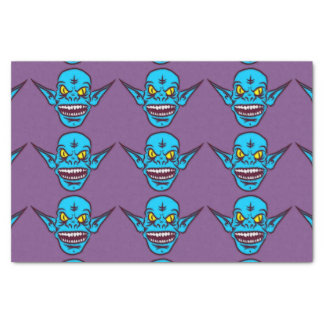 blue zombie troll demon tissue paper