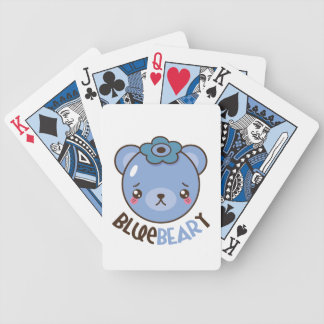 BlueBeary Blueberry Bear Bicycle Playing Cards