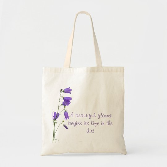 Bluebell beautiful flower quote tote