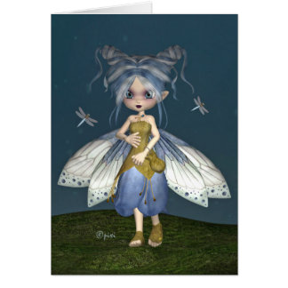 """Bluebell Fae"" Greeting Card"
