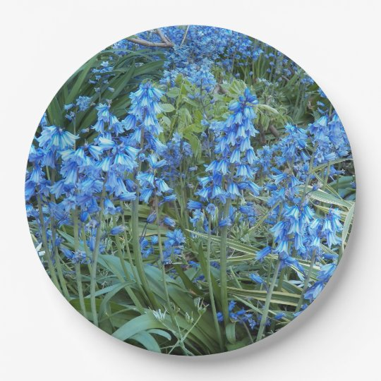 Bluebell Garden Floral 9 Inch Paper Plate