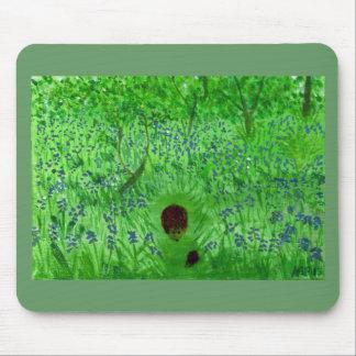 Bluebell Wood Hedgehogs Art Mouse Mat