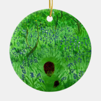 Bluebell Wood Hedgehogs Christmas Ornament
