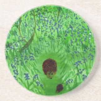 Bluebell Wood Hedgehogs Coaster