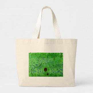 Bluebell Wood Hedgehogs Large Tote Bag