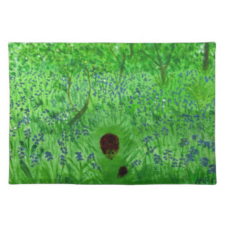 Bluebell Wood Hedgehogs Placemat