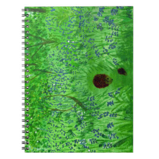 Bluebell Wood Hedgehogs Spiral Notebook