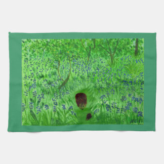 Bluebell Wood Hedgehogs Tea Towel