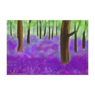 Bluebell Wood (large 121.92 x 81.28cm ) Canvas Print