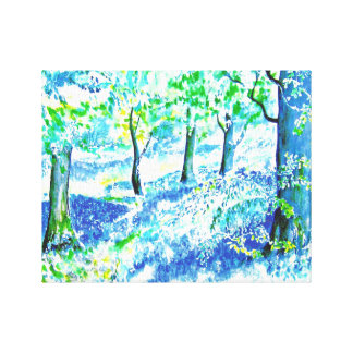 Bluebell Woods. Canvas Print