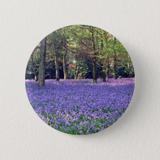 Bluebell Woods, England  flowers 6 Cm Round Badge