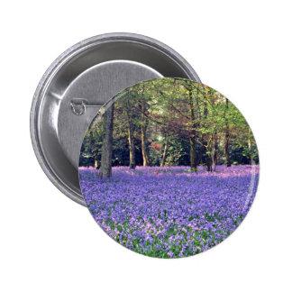 Bluebell Woods, England  flowers 6 Cm Round Badge