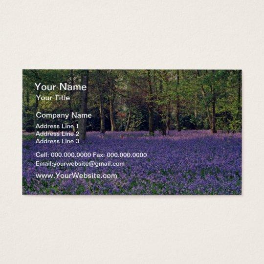 Bluebell Woods, England flowers Business Card