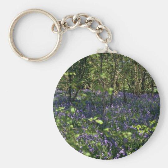 Bluebell Woods flowers Key Ring