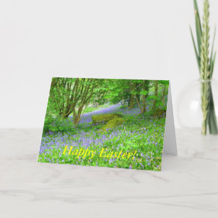 Bluebell Woods, Happy Easter! Holiday Card
