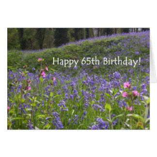 Bluebells 65th Birthday Card