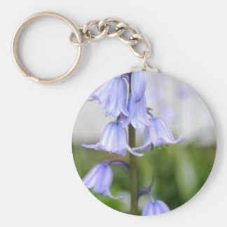 Bluebells Basic Round Button Key Ring