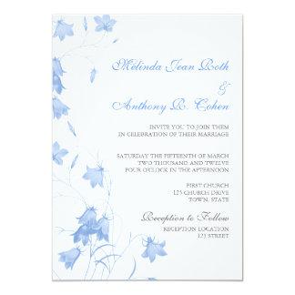 Bluebells - Blue 5x7 Wedding Invitation