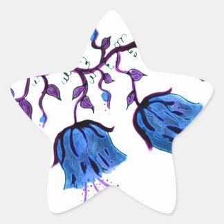 BLUEBELLS FLORAL STAR STICKER