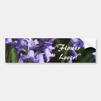 Bluebells Flowers Nature Floral Blue Purple Flower Bumper Sticker