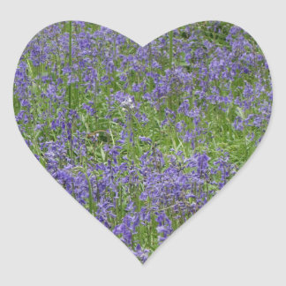 Bluebells Heart Sticker