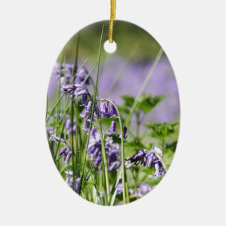 Bluebells In England Ceramic Oval Decoration