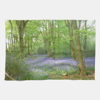 Bluebells in Woods Tea Towel